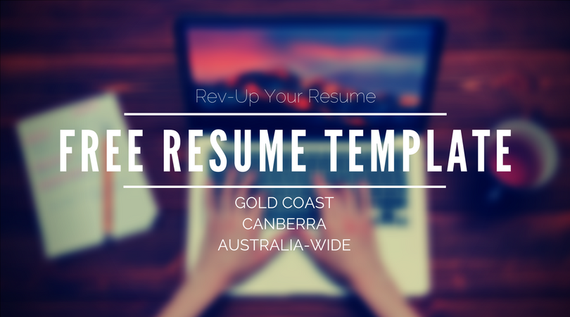 Free Resume Template Rev Up Your Resume